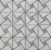 Triangle Mosaic Tile Gray Marble Stone Mosaic