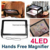 LED Light with Hand Free Stand Foldable Magnifier