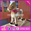 2017 Wholesale Horse Sound Wooden Rocking Horse for Baby, New Fashion Wooden Rocking Horse for Baby W16D091