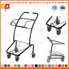 Low Price Simply Supermarket Shopping Trolley with Basket (ZHt262)