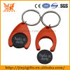 Cheap Plastic Trolley Token with Keyring Supplier
