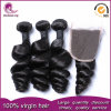 Loose Wavy Brazilian Hair Weft Unprocessed Virgin Human Hair Weave