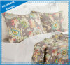 Chocolate Floral Printed Polyester Quilted Coverlet Set