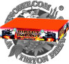 "0.8"" Direct Impact 800 Shots Cake Fireworks"