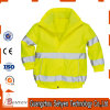 waterproof Yellow High Visibility Reflective Winter Warm Safety Jacket