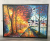 Scenery Knife Oil Painting Landscape Framed Art Canvas Painting for Home Decor