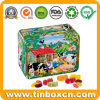 Embossed Rectangular Metal Confectionary Packaging Fruit Candy Tins for Kids