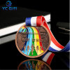 China Custom Metal Zinc Alloy Plated Soft Enamel Souvenir Challenge Coins Adults Marathon Running Football Winner Honor Medal Crafts for Promotional Products