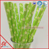 Green Fancy Drinking Straws Little Daisy Party Products
