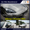 Black Glossy Chrome Film Car Vinyl Wrap Vinyl Film for Car Wrapping Car Wrap Vinyl