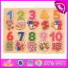 2015 Preschool Educational Wooden Number Puzzle, Recognizing Wooden Puzzle Playing Game, Child Wooden Toy Number Cognition W14b050