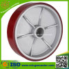 Aluminum Core Wheel with Red PU for Caster
