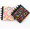 Fashion Black Plastic Spiral Notebooks