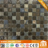 Bathroom Wall Dark Color Glass Tile with Stone (M823077)