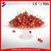 "12"" Large Clear Round Glass Fruit Plate with Stand"