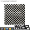 13 Facets Black Diamond Glass and Metal Mosaic Tile