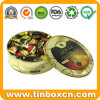 Round Metal Fruit Candy Tin for Sweets Sugars Confectionary Storage