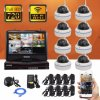 8CH Wireless CCTV DIY Security Home System Kits IP Camera DVR with Monitor