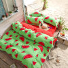 Singapore Malaysia Luxury Microfiber Watermelon Printed Super King Bedsheets and Duvet Covers Set