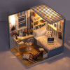 Cute Room DIY Doll House Miniature Model with Light Cute Room Wooden Doll House Assembly