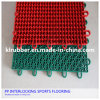 Outdoor PP Interlocking Plastic Floor Tiles for Football Futsal