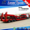 Heavy Exposed Tires 3 Axles Lowbed Truck Trailer Supplier