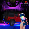 Best LED Strip Lights 12 Volt LED Strip Light Kit with Connectors Waterproof Car LED Lighting Strips APP Controlled with Bluetooth Controller Sync Music