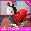 2017 Wholesale Animal Sound Wooden Rocking Horse for 2 Year Old, New Design Red Bee Wooden Rocking Horse for 2 Year Old W16D099