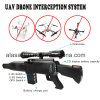 Gun Shape Built-in Antenna Security Defense Jamming Uav Drone Jammer