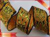 Golden Woven Metallic Jacquard Ribbon (E-WT-30)