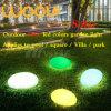 Solar Light of LED RGB Ball Cubes Stone for Garden Park
