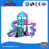 Safety Interesting Backyard Plastic Playground Equipment with Slides