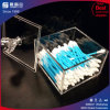 Square Clear Acrylic Cotton Pad Holder with Cover