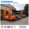 China 60t Lowdeck Lowbed Crane Cargo Transport Trailer