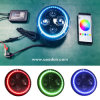 Europe Standard RGB Halo Color Changing APP Controlled LED Headlights Emark Headlamps for Jeep Land Rover Truck Offroad