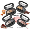 3 Colors Eyeshadow Long Lasting Makeup Palette Metal Naked Nude Eye Shadow Es0326