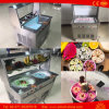 Commercial Double Flat Pan Roll Plate Fried Ice Cream Machine