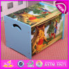 Wooden Cartoon Toy Storage Box for Kids, Decorative Children Wooden Toy Storage Box OEM Available W08c130