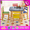 2015 Colorful Wooden Table and Chair for Kids, Children Study Table and Chair, Rounded Corner Study Blackboard Play Table Wo8g141