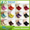 Girl Cotton Thick Semi Finger Toeless Yoga Socks with Anti Slip Offset