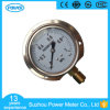 Ytn-75ad Half Stainless Steel Bottom Type Oil Filled Pressure Gauge with Stainless Steel Flange