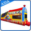 Inflatable Train Moonwalk for Party Entertainment Games