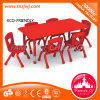 Red Plastic Furniture Kids Long Table for Library