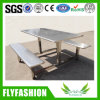 Stainless Steel Dining Table and Chair Use for Staff Canteen