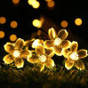 China Manufacturer Flower Shape Colorful Christmas Decoration Light Solar Panel LED String Light