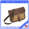 Mens Fashion Messenger Waxed Canvas Bag for Laptop