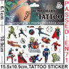 Water Transfer Temporary Kids Cartoon Hero Tattoo (cg074)