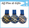 Blue Soft Enamel Medal with Ribbon
