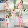 Children's Clothing Girls Short Sleeve Summer Air Conditioner Two Piece Set 30 Patterns for Choose
