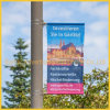 Metal Street Pole Advertising Poster Device (BS-HS-036)